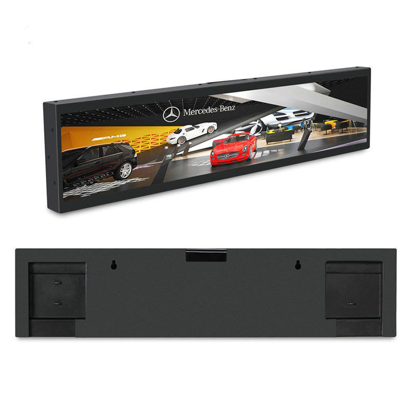 Black Color Stretched Bar LCD , 31.5'' Stretched LCD Display For Advertising
